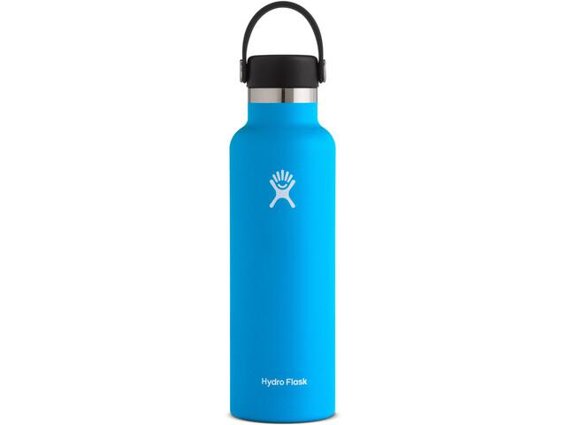 Hydro Flask Standard Mouth Stainless Steel Bottle with Standard Flex Cap 621ml, blauw